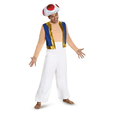 Men's Toad Deluxe Costume - Super Mario Brothers - Toad Costume