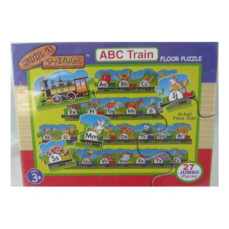 Wood N Things Abc Train Floor Puzzle   Over 10 Feet Long