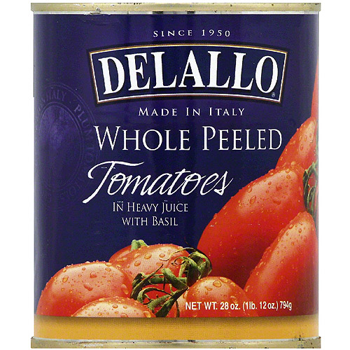 DeLallo Whole Peeled Tomatoes, 28 oz (Pack of 12)