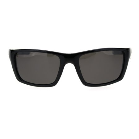 Super Light Weight Polarized Lens Classic Warp Sport Sunglasses Shiny (Super Classic Sunglasses)