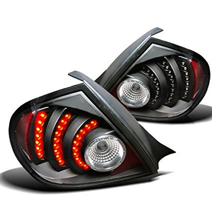 02 Dodge Neon Tail Lights (Spec-D Tuning LT-NEO03JMLED-DP Dodge Neon Srt4 R/T Black Led Tail Lights Depo)