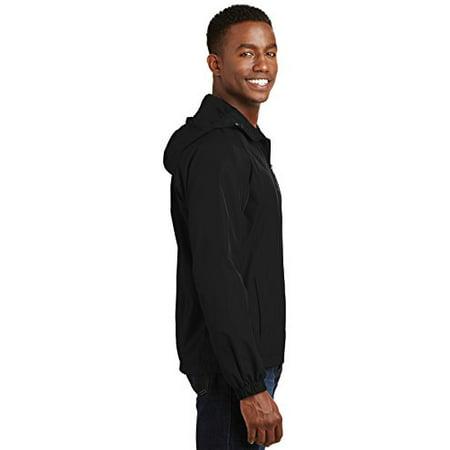Sport-Tek® Hooded Raglan Jacket. Jst73 Black L - image 2 de 4