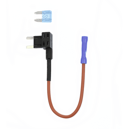 ATM TAP Mini Add-a-circuit ATM Low Profile Blade Fuse Holder & 15 Amp ATM (Low Profile Amp)