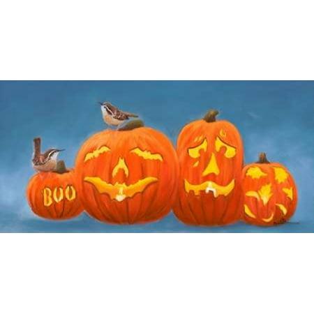 Halloween Pumpkins Canvas Art - Julie Peterson (10 x 20) - Julie Ann Art Halloween Costumes