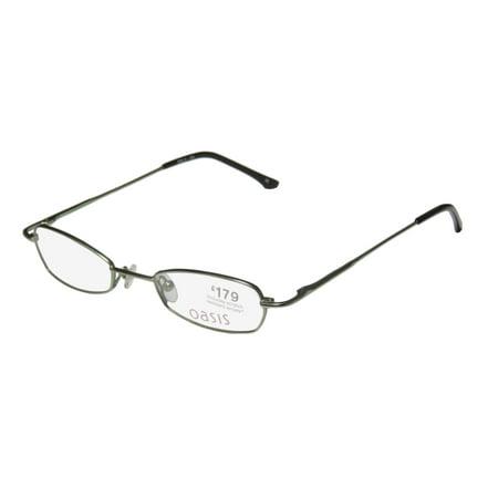 New Oasis Holly Womens/Ladies Designer Full-Rim Green Gorgeous Adjustable Nosepads Hip Frame Demo Lenses 46-19-135 Flexible Hinges Eyeglasses/Eye -