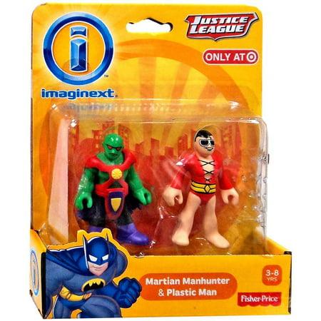 Dc Super Friends Imaginext Martian Manhunter   Plastic Man Mini Figures