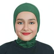Al Amira Islamic Girl Child Practical Hijab one Piece Bonnet - Easy Hijab Emerald Green