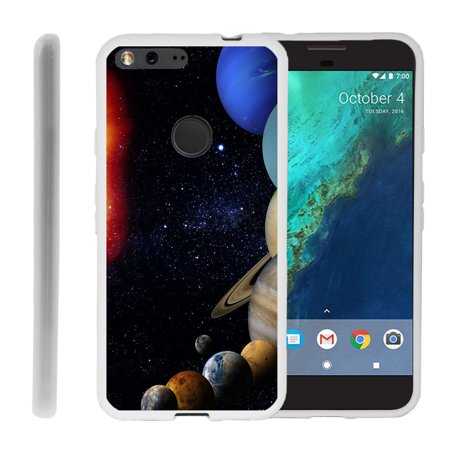 Google Pixel XL Flex Force Flexible Slim Durable Bumper Case with Unique Designs - Planets Around the Sun