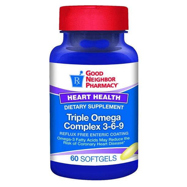 Gnp Triple Omega 3 6 9 Complex Supplement 60 Softgels Walmart