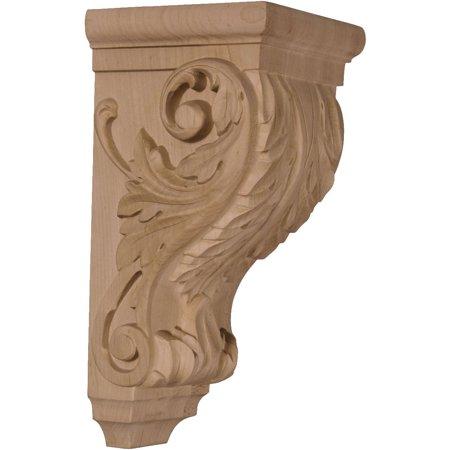 5 W x 5 D x 10 H Medium Acanthus Wood Corbel Alder