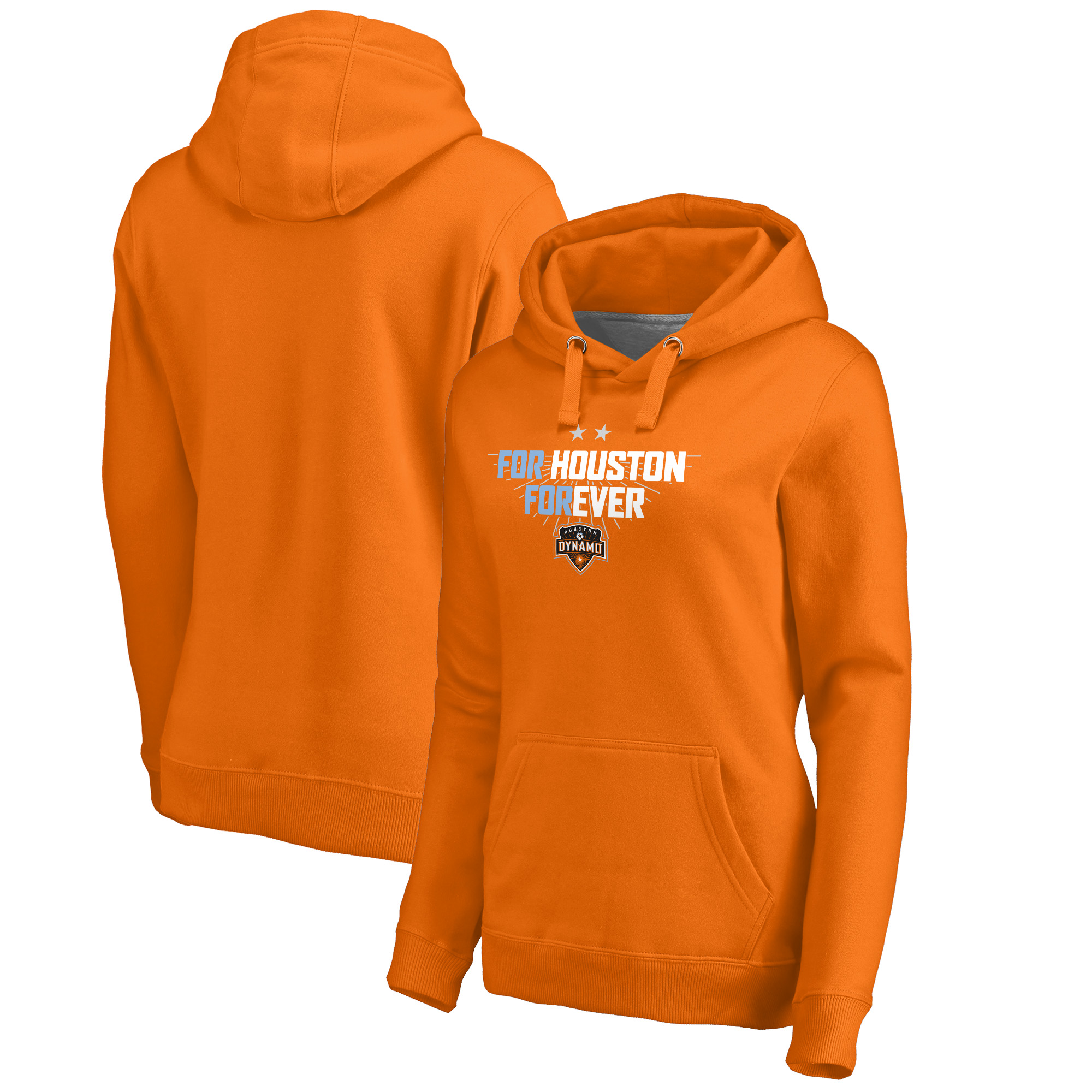 Houston Dynamo Fanatics Branded Women's For Houston Pullover Hoodie - Tenn Orange