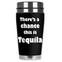 Mugzie brand 16-Ounce Stainless Steel Travel Mug with Insulated Wetsuit Cover - Might be Tequila