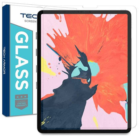 Tech Armor Ballistic Glass Screen Protector Designed for Apple iPad Pro 12.9 inch (2018) – ULTRA-THIN 0.25mm for Extreme Touch Sensitivity (Works with Face ID and Apple Pencil)