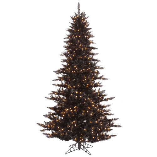 Vickerman 7.5' Tinsel Green Fir Artificial Christmas Tree with 750 Mini Lights