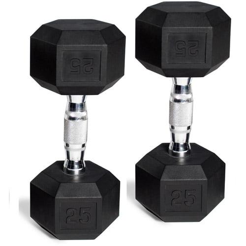 CAP Barbell Rubber-Coated Hex Dumbbells, Set of 2