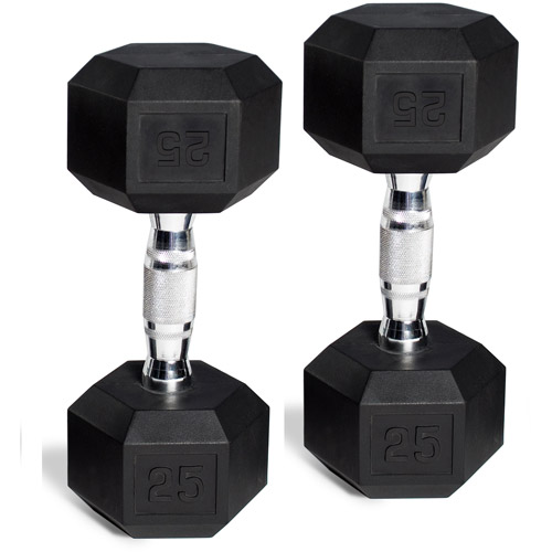 CAP Barbell Rubber-Coated Hex Dumbbells, Set of 2
