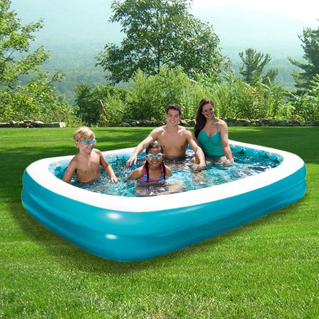 3d inflatable rectangular family pool - Rectangle Inflatable Pool