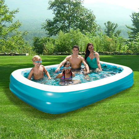 3d Inflatable Rectangular Family Pool 103 X 69