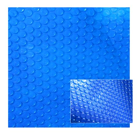 - Blue Wave 8-mil Solar Blanket for 12-ft x 24-ft Oval Above-Ground Pools - Blue Cover with UV-Resistant Thermal Bubbles