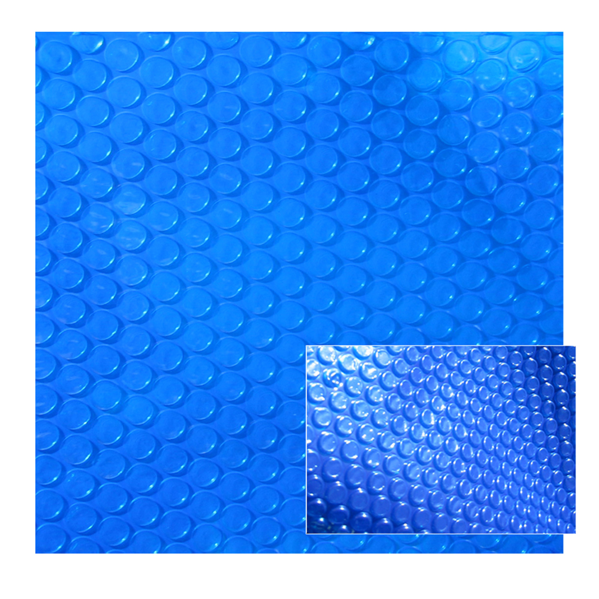 Blue Wave 8-mil Solar Blanket for 12-ft Round Above-Ground Pools - Blue Cover with UV-Resistant Thermal Bubbles