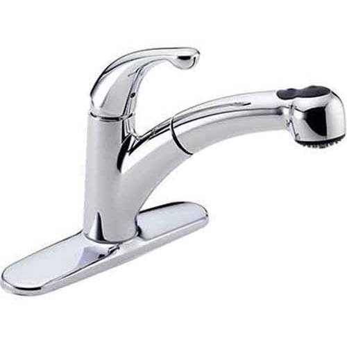 Delta Palo Kitchen Faucet with Pullout Spray, Available in Various Colors