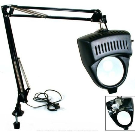 Light Magnifier Lamp - Clamp on Swing Arm Lighted Magnifying Lamp Hobby Work Desk Table Lamp Magnifier