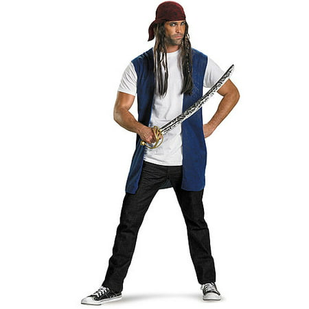 Captain Jack Sparrow Kit Adult Halloween Accessory (Jack Stickman Halloween 3)