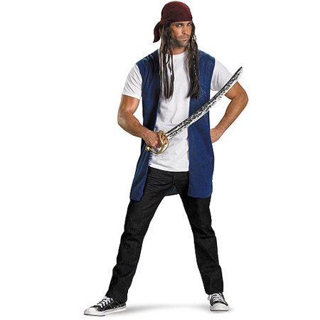 Captain Jack Sparrow Kit Adult Halloween Accessory (Captain Jack Sparrow Wig)
