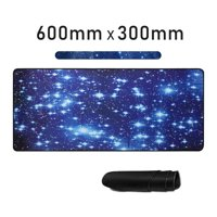 TSV Large Galaxy Anti-Slip Gaming Mouse Pad - Desk Keyboard Mat, Extended Gaming Mousepad, Stitching Edge Desk Pad, Keyboard Mat (23.6x11.8In), For Laptop Computer PC, Work & Gaming, Office & Home