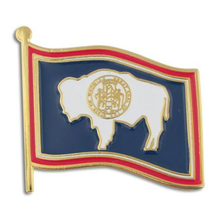 Pinmart Pinmarts Wyoming Us State Flag Wy Enamel Lapel Pin 1