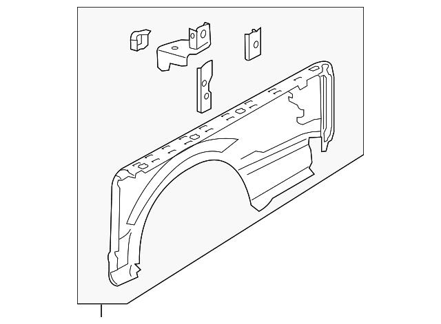 Genuine Oe Ford Side Panel Fl3z 9527841 B