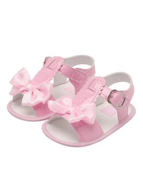 964dc0fd9305 Product Image Babula Baby Girl Bowknot Solid Sandals Summer Princess Shoes  0-18M