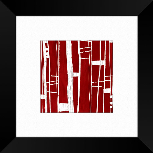Red Linear Framed Artwork, II by