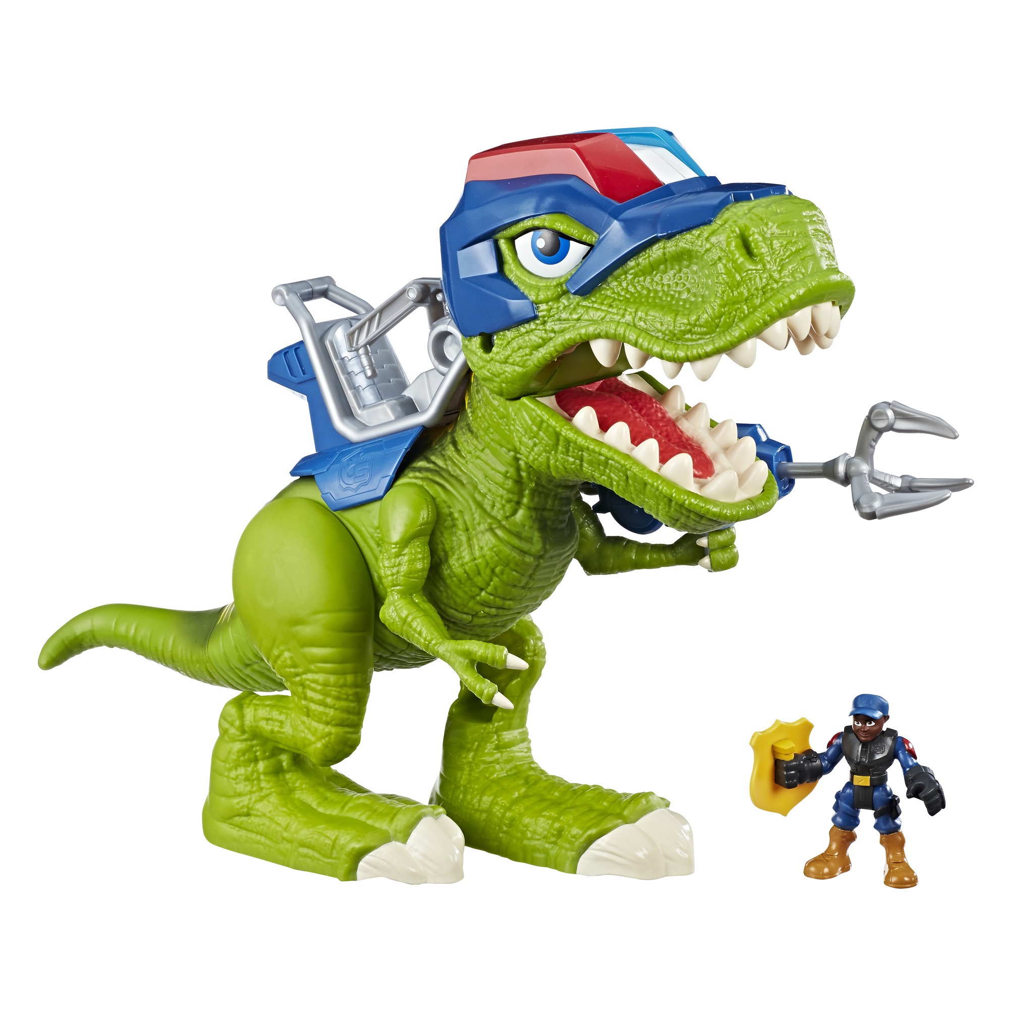 Playskool Heroes Chomp Squad Troopersaurus and Bobby Badge by Hasbro