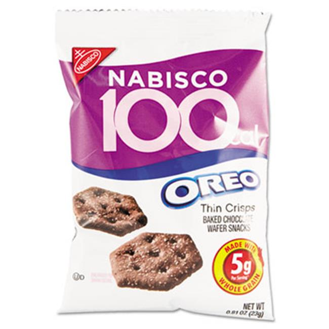 Nabisco 100 Calorie Oreo Thin Crisps Baked Chocolate Wafer Snacks, .81 oz, 6 count