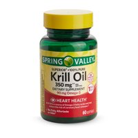 Spring Valley Pure Krill Oil Softgels, 350 mg, 60 Count