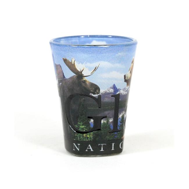 Americaware SGGNP01 Glacier Natural Park Full Color Etched Shot Glass by Americaware