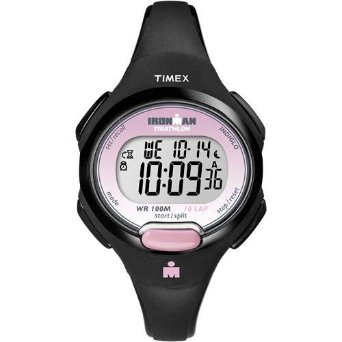Timex Women's Ironman Essential 10 Mid-Size Watch, Black Resin Strap