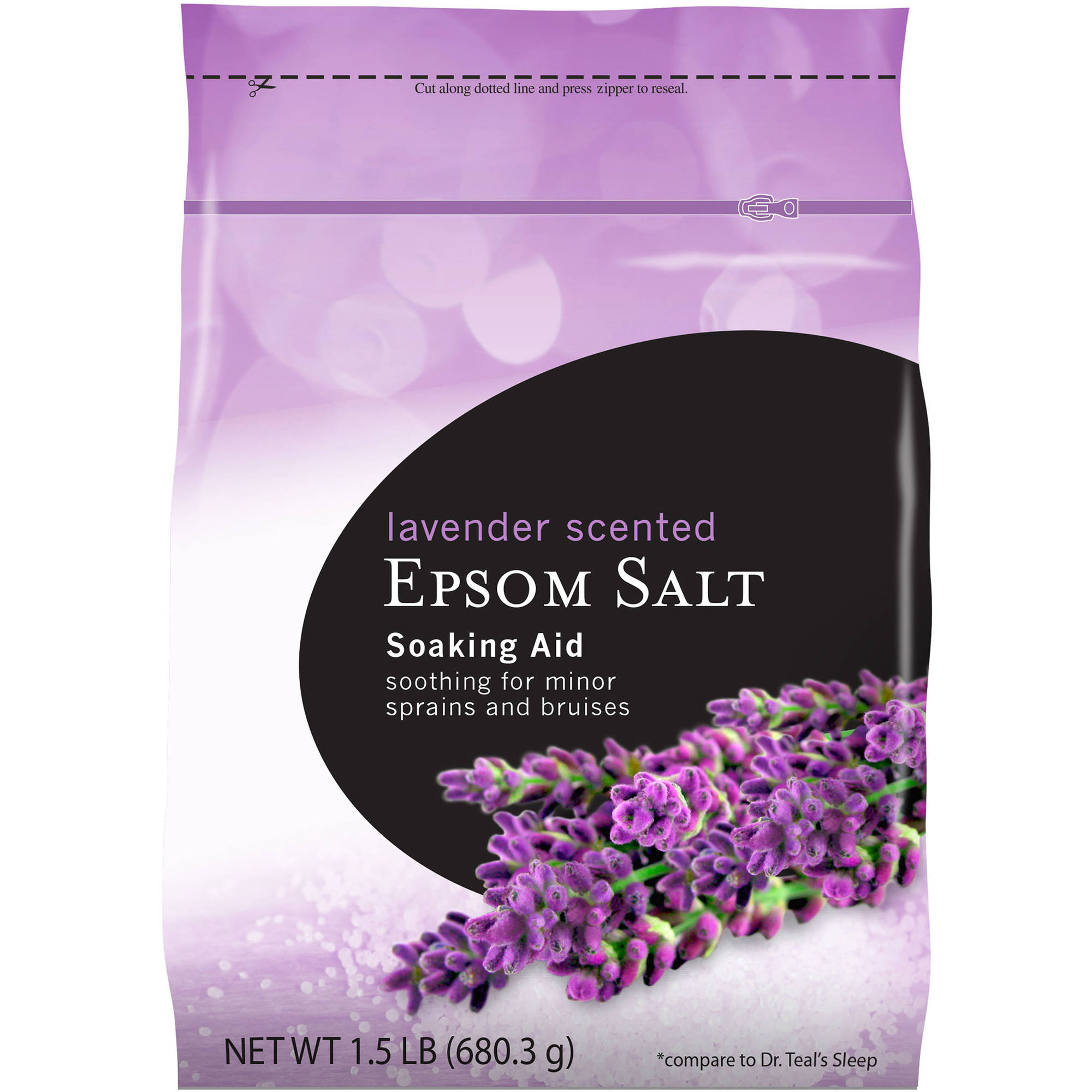 Lavender Scented Epsom Salt Soaking Aid, 24 oz