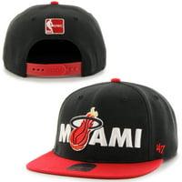 Miami Heat '47 Brand Lock Up Adjustable Snapback Hat - Red - OSFA