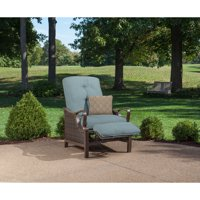 Outdoor Luxury Recliner with Accent Pillow