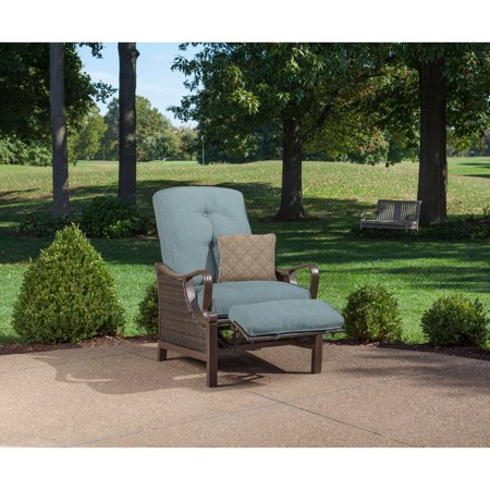 Outdoor Luxury Recliner with Accent -