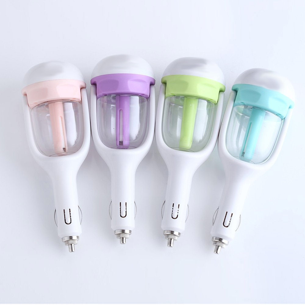 Portable Mini Essential Oil Diffuser Air Diffuser Purifier Humidifier For Car -Pink
