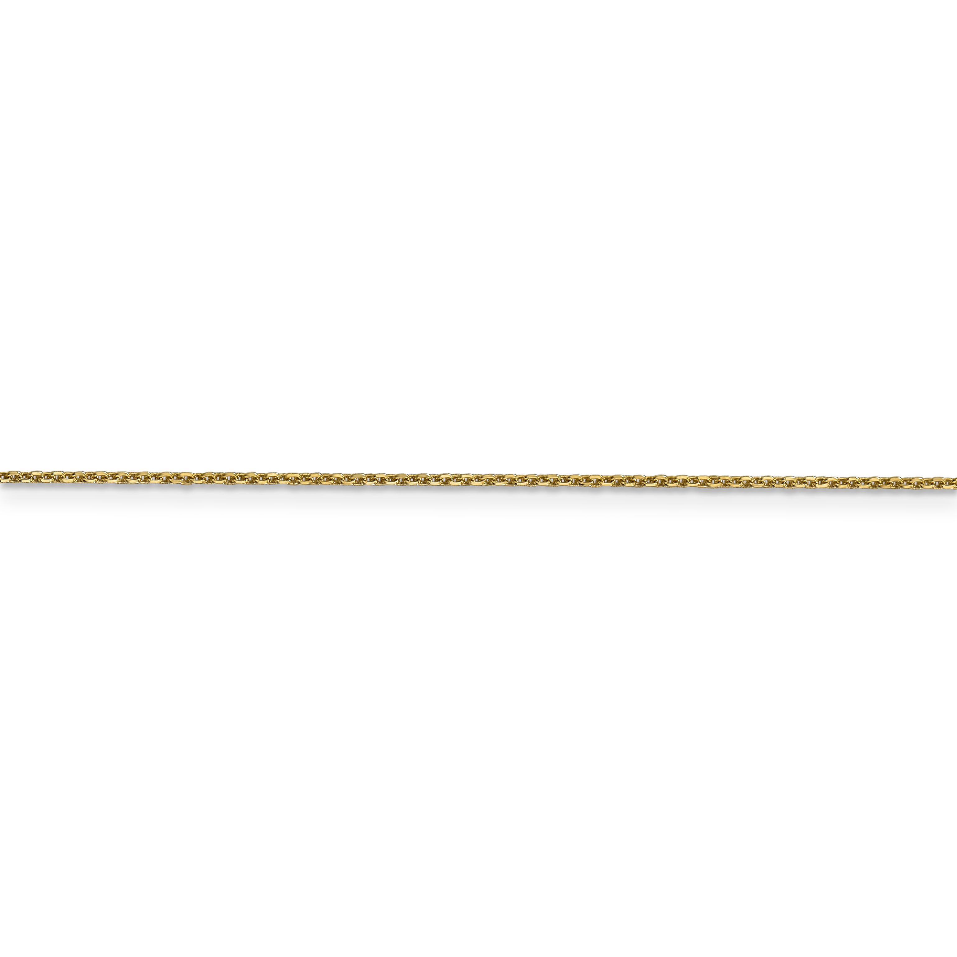 14K Yellow Gold .95mm Diamond Cut Cable Chain 24 Inch - image 3 de 5