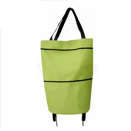 B11-46 Shopping Trolley Bag Portable multi-function Oxford Folable Tote bag Shopping Cart Reusable Grocery Bags with Wheels Rolling Grocery Cart (Shopping Bags With Wheels)
