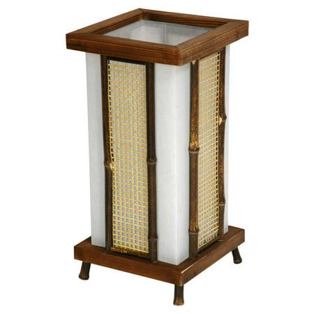 Oriental Furniture Matsu Wood & Bamboo Shoji Lantern Table Lamp - Oriental Lanterns