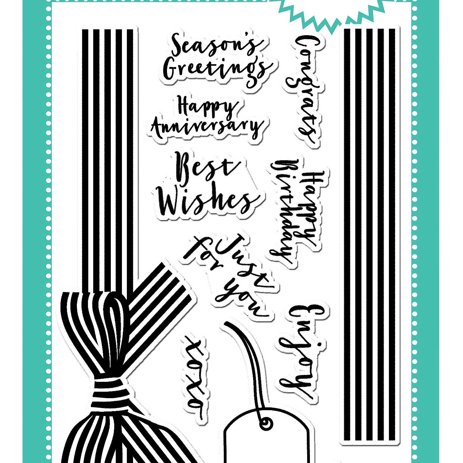 "Avery Elle Clear Stamp Set, 4"" x 6"""