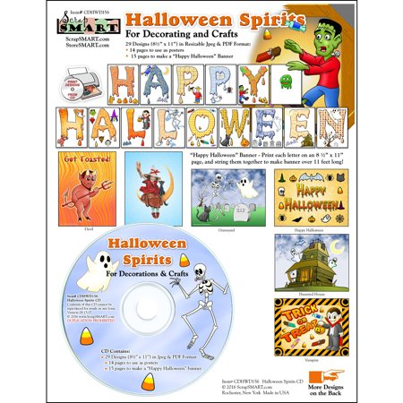 ScrapSMART Halloween Spirits CD-ROM: Decorations and Crafts](Halloween Hobby Craft)