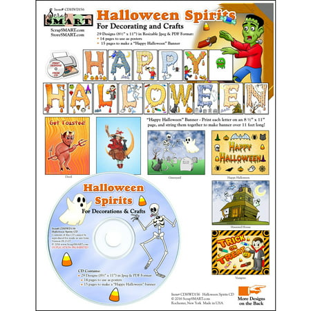 ScrapSMART Halloween Spirits CD-ROM: Decorations and Crafts
