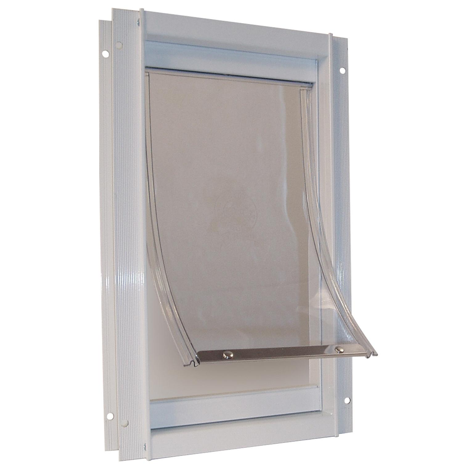 """Ideal Pet Products DDMW 9-1/16"""" X 14-15/16"""" Medium White Deluxe Pet Door"""